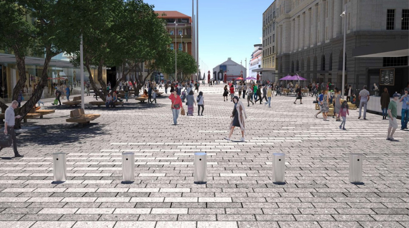 Lower Queen Street Concept - View Southern End